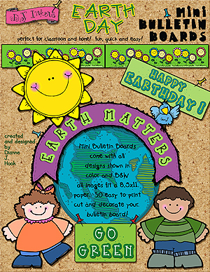 Earth Matters Printable Bulletin Board