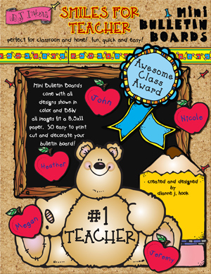 Smiles For Teacher Printable Bulletin Board
