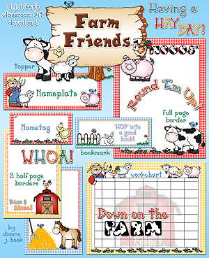Farm Friends Classroom Kit Download