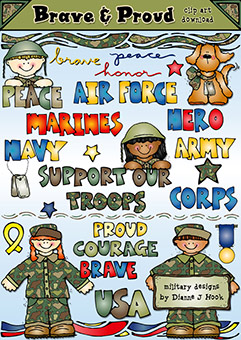 Brave and Proud Clip Art Download