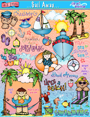 Sail Away Clip Art Download