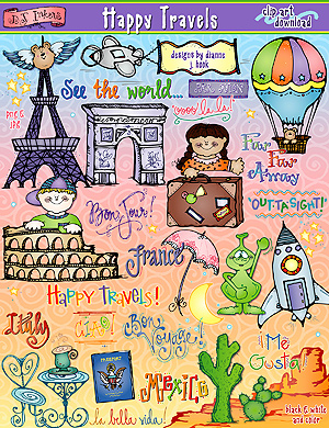 Happy Travels Clip Art Download