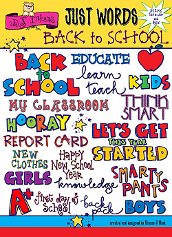 Back To School Words Clip Art Download