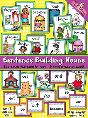 Sentence Building: Nouns Flash Cards Download