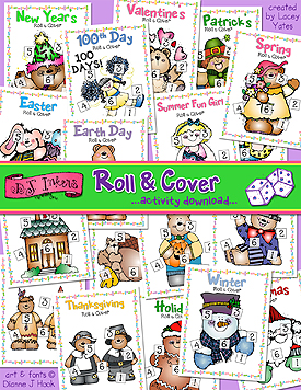 Roll and Cover Printable Activity Download