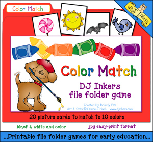 Color Match File Folder Game Download