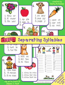 Separating Syllables Activity Download