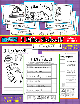 I Like School Activity Download