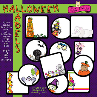 Halloween Labels Clip Art Download