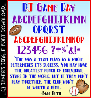 DJ Game Day Font Download