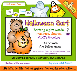 Halloween Sort File Folder Game Download