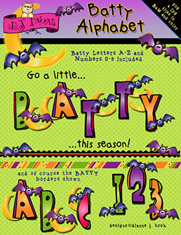 Batty Clip Art Alphabet Download