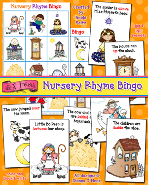 Nursery Rhyme Bingo Activity Download