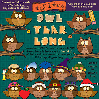 Owl Year Long Clip Art Download