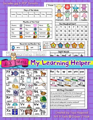 My Learning Helper - Printable Reference Guide
