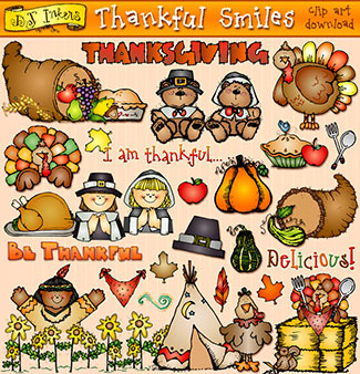 Thankful Smiles Clip Art Download