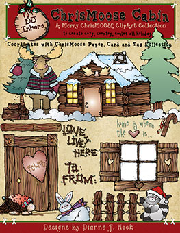 ChrisMoose Cabin Clip Art Download