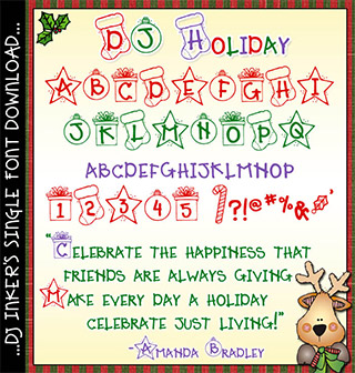 DJ Holiday Font Download