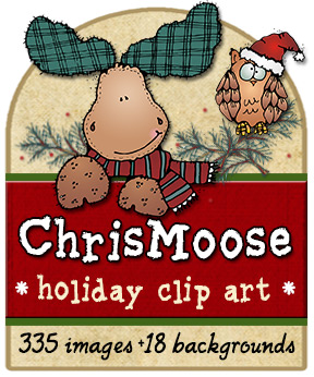 Chris-Moose Holiday Clip Art Download Collection
