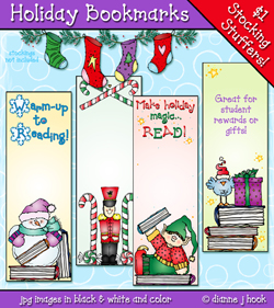 Holiday Bookmarks Printables Download