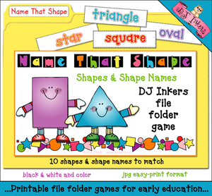 Name That Shape File Folder Game Download