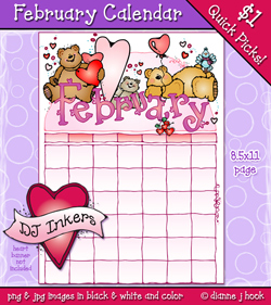 February Calendar Clip Art Download