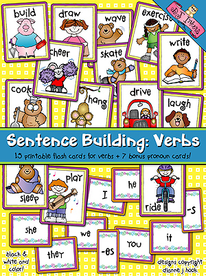 Sentence Building: Verbs Flash Cards Download
