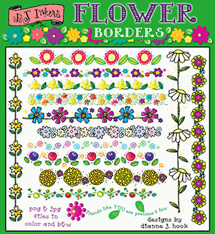 Flower Borders Clip Art Download