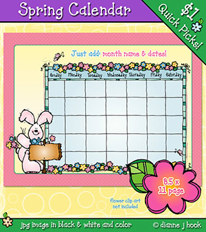 Spring Calendar Download
