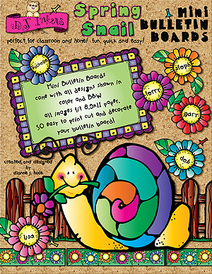 Spring Snail Printable Bulletin Board