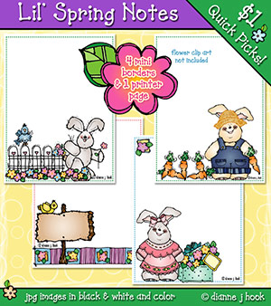 Lil' Spring Notes Clip Art Download