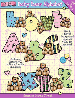 Baby Bear Alphabet Clip Art Download