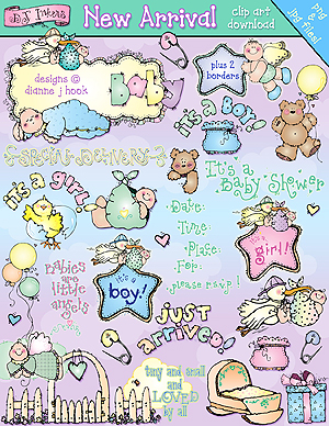 New Arrival Baby Clip Art Download