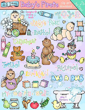 Baby's Firsts Clip Art Download
