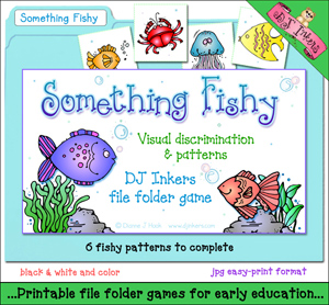 Something Fishy File Folder Game Download