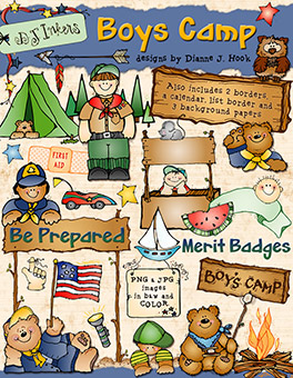Boys Camp - Scouting Clip Art Download