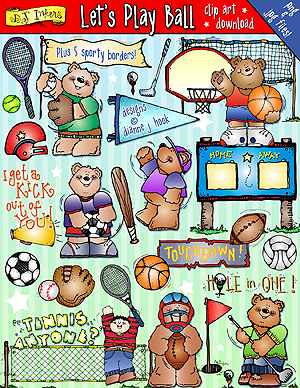 Let's Play Ball Clip Art Download