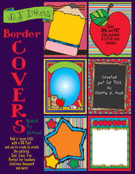 Border Covers for School Clip Art Download