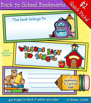 Back To School Bookmarks Download
