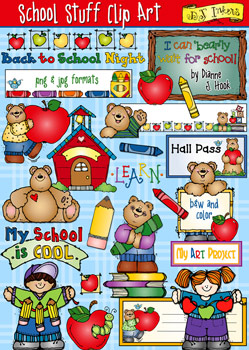 School Stuff Clip Art Download