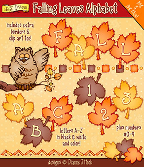 Falling Leaves Clip Art Alphabet Download