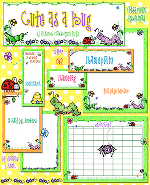 Cute as a Bug Classroom Kit Download