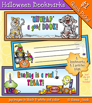 Halloween Bookmarks Printables Download