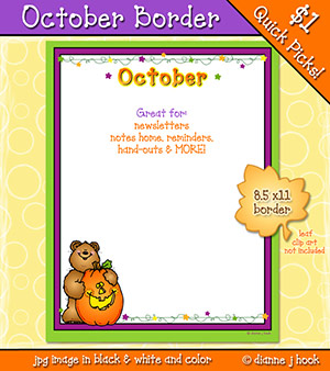 October Border Clip Art Download