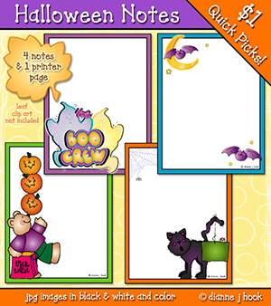 Halloween Notes Clip Art Download