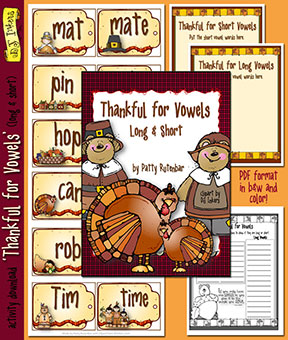 Thankful For Vowels Activity Download