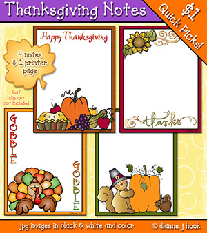 Thanksgiving Notes Clip Art Download