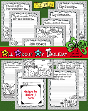 All About My Holiday Printable Journal Download
