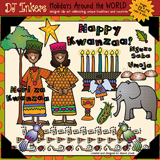 Holidays Around The World: Kwanzaa Clip Art Download