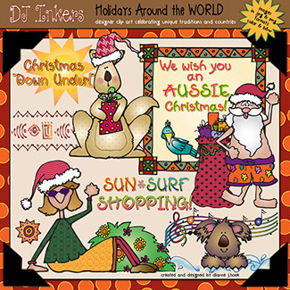 Holidays Around The World: Australia Clip Art Download